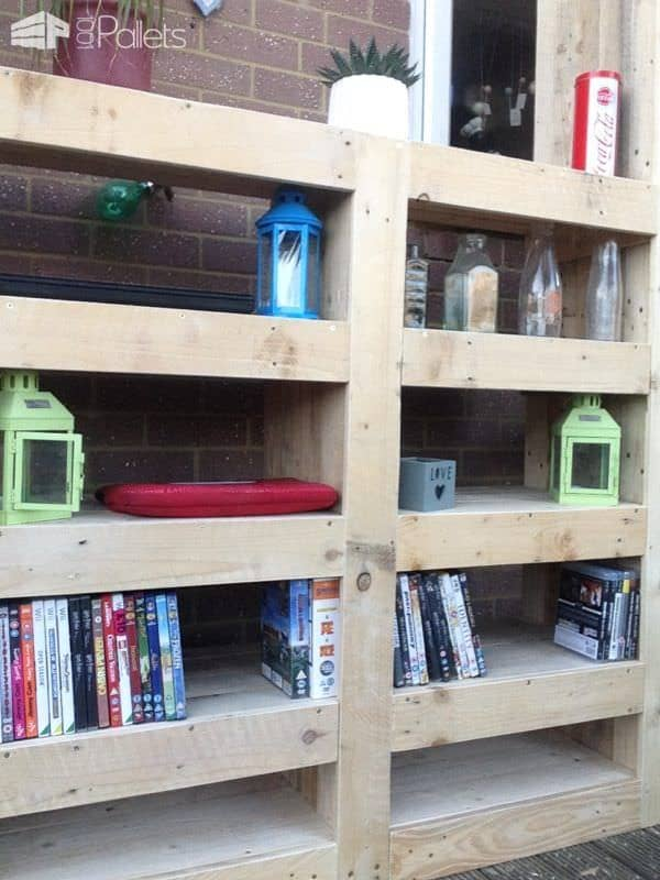 Beautiful Paired Pallet Shelves Entertainment Center Pallet Cabinets & Pallet Wardrobes