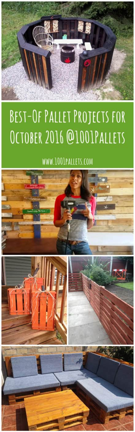 Best of Pallet Projects for October 2016 @1001pallets