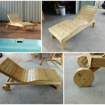 Body-contoured Pallet Chaise Lounger