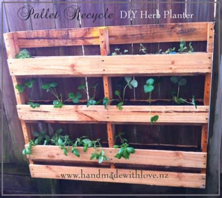 Diy Space-saving Vertical Pallet Herb Planter