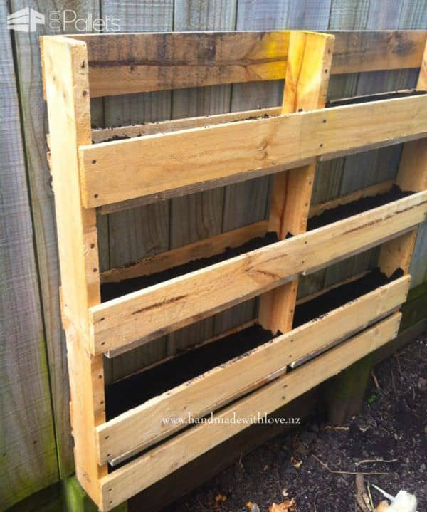 Diy Space-saving Vertical Pallet Herb Planter Pallet Planters & Compost Bins