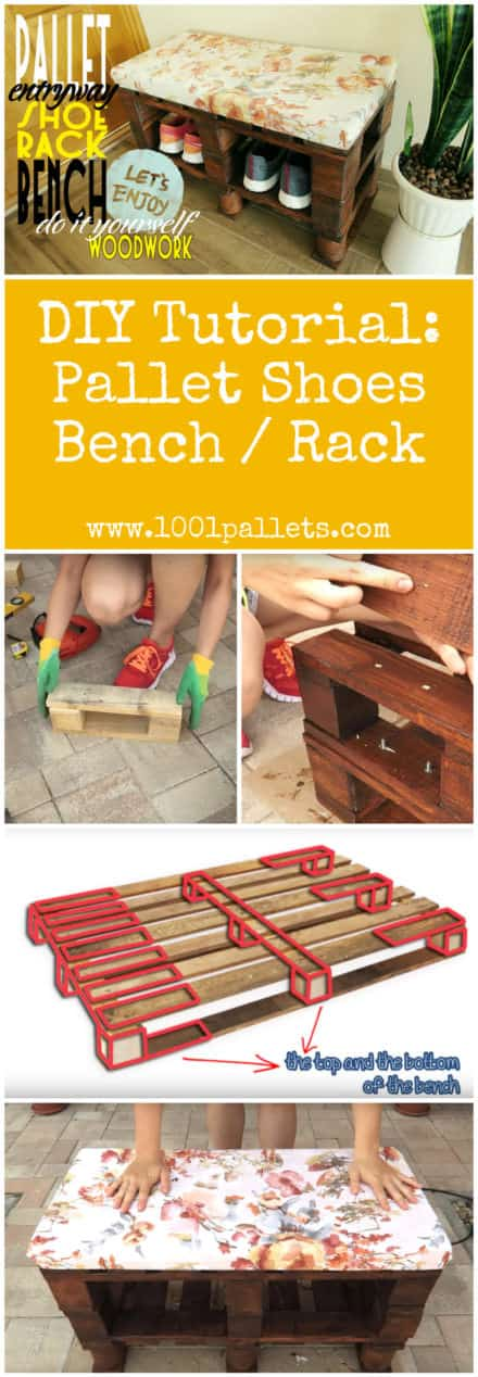 Diy Tutorial: Pallet Shoes Bench / Rack