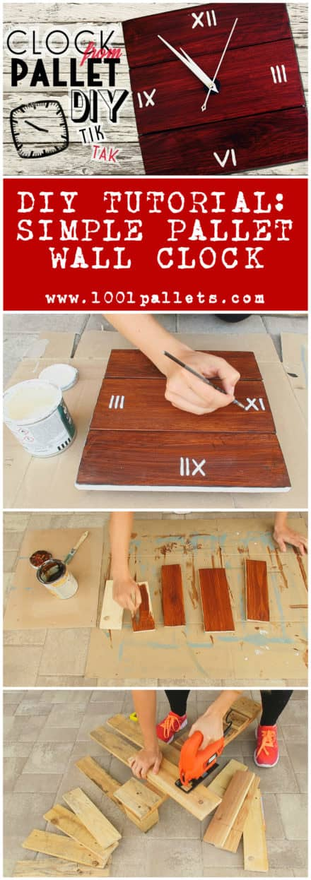 Diy Tutorial: Simple Pallet Wall Clock