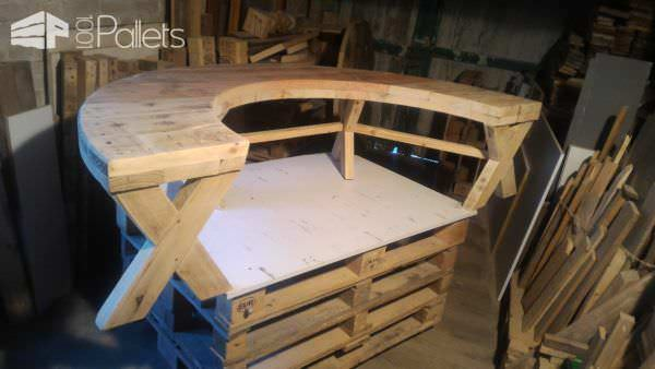 Drum Table Pallet Bench Set Pallet Desks & Pallet Tables