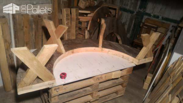 Drum Table Pallet Bench Set7