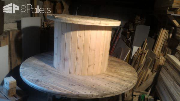 Drum Table Pallet Bench Set3