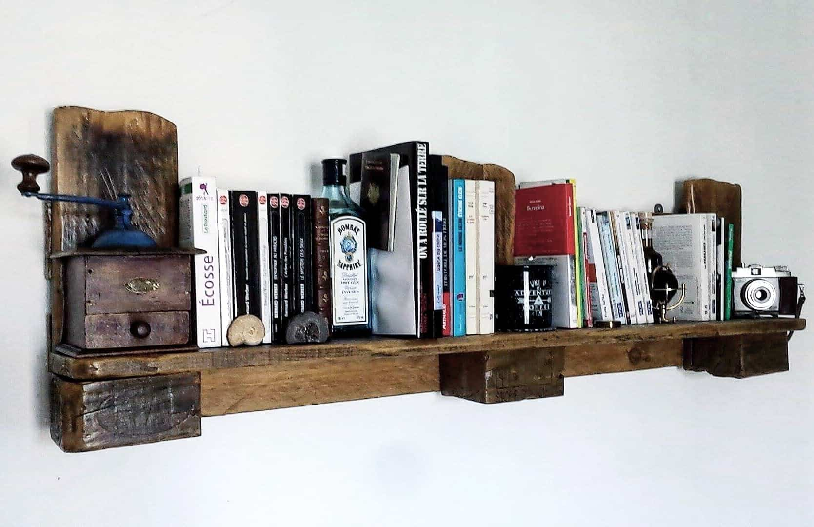 Easy one pallet shelf tag re r alis e avec une seule for Etagere avec palette