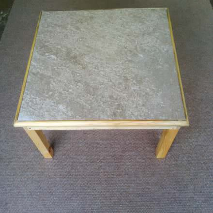 Elegant Tile-topped Pallet Coffee Table