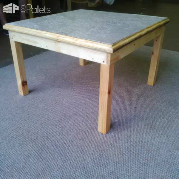 Elegant Tile-topped Pallet Coffee Table Pallet Desks & Pallet Tables