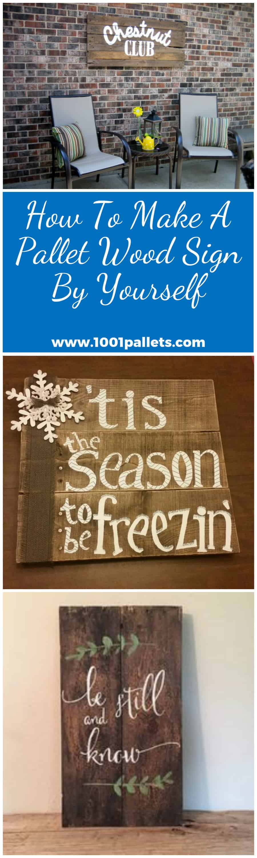 How To Make A Pallet Wood Sign By Yourself 1001 Pallets