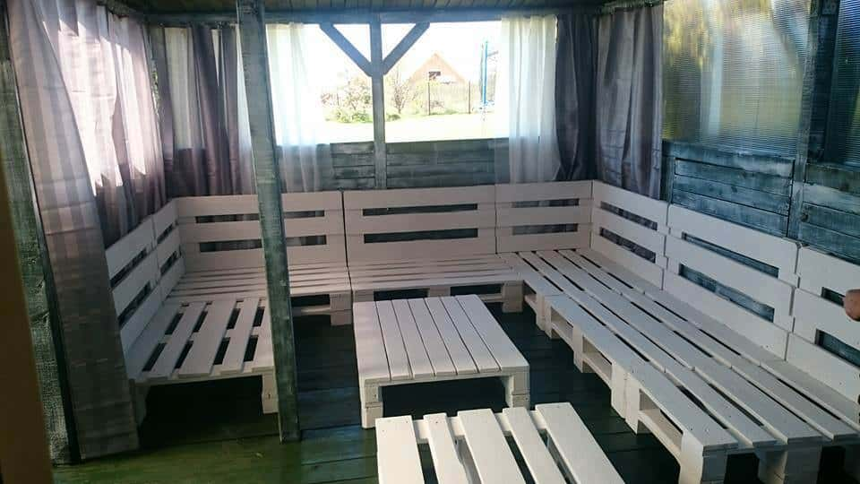 Large Pallet Sectional Sofa Set Perfect For Parties