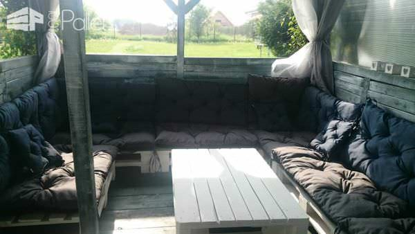 Large Pallet Sectional Sofa Set2