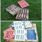 Laser-cut Recycled Pallet Tablet Case
