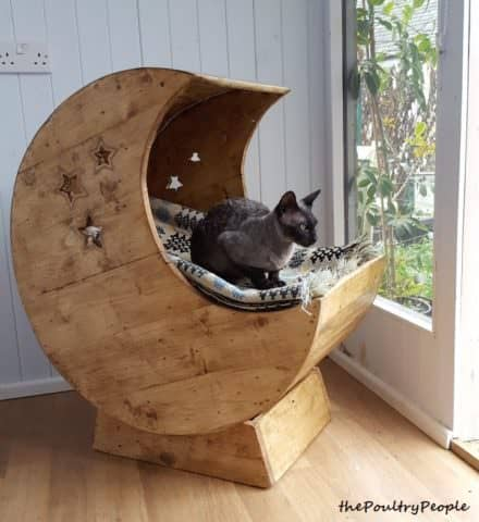 Led-lit Pallet Moon Cradle For Kitty