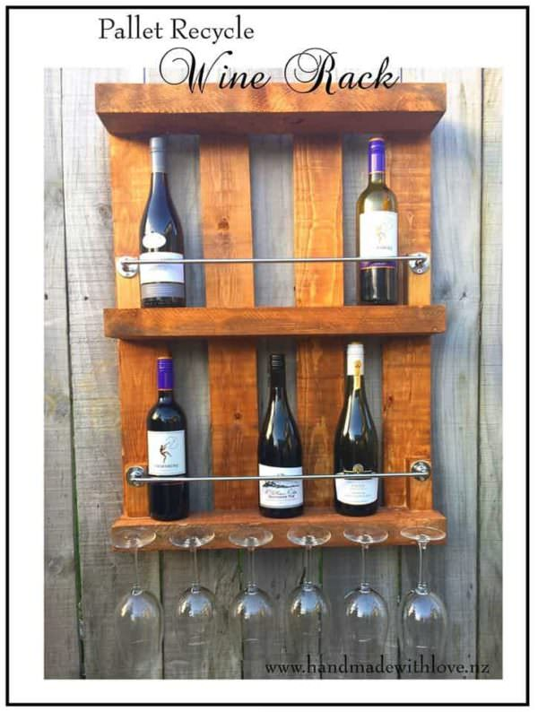 Recycled Pallet Wine Rack Pallet Shelves & Pallet Coat Hangers