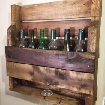 Rustic Wine & Stemware Rack Can Adorn Your Walls