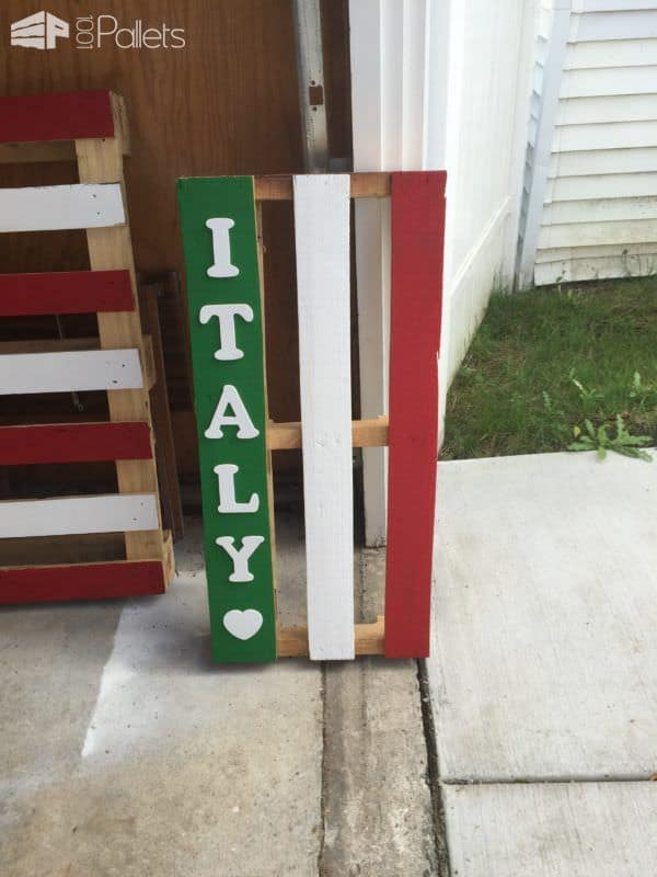 Show Your Pride With Themed Painted Pallets Pallet ideas for DIY - Home Décor