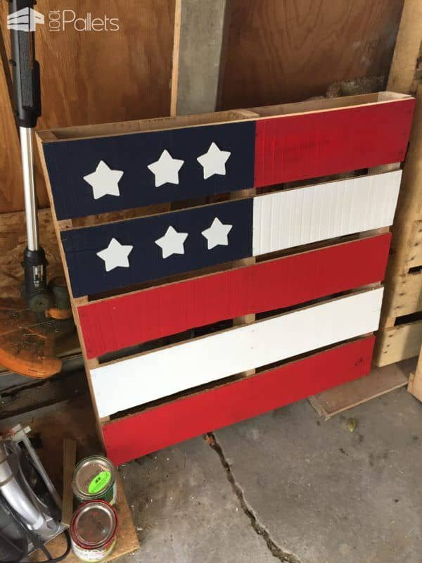 Show Your Pride With Themed Painted Pallets Pallet Home Decor
