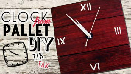 Tutorial-build This Gorgeous Pallet Wall Clock