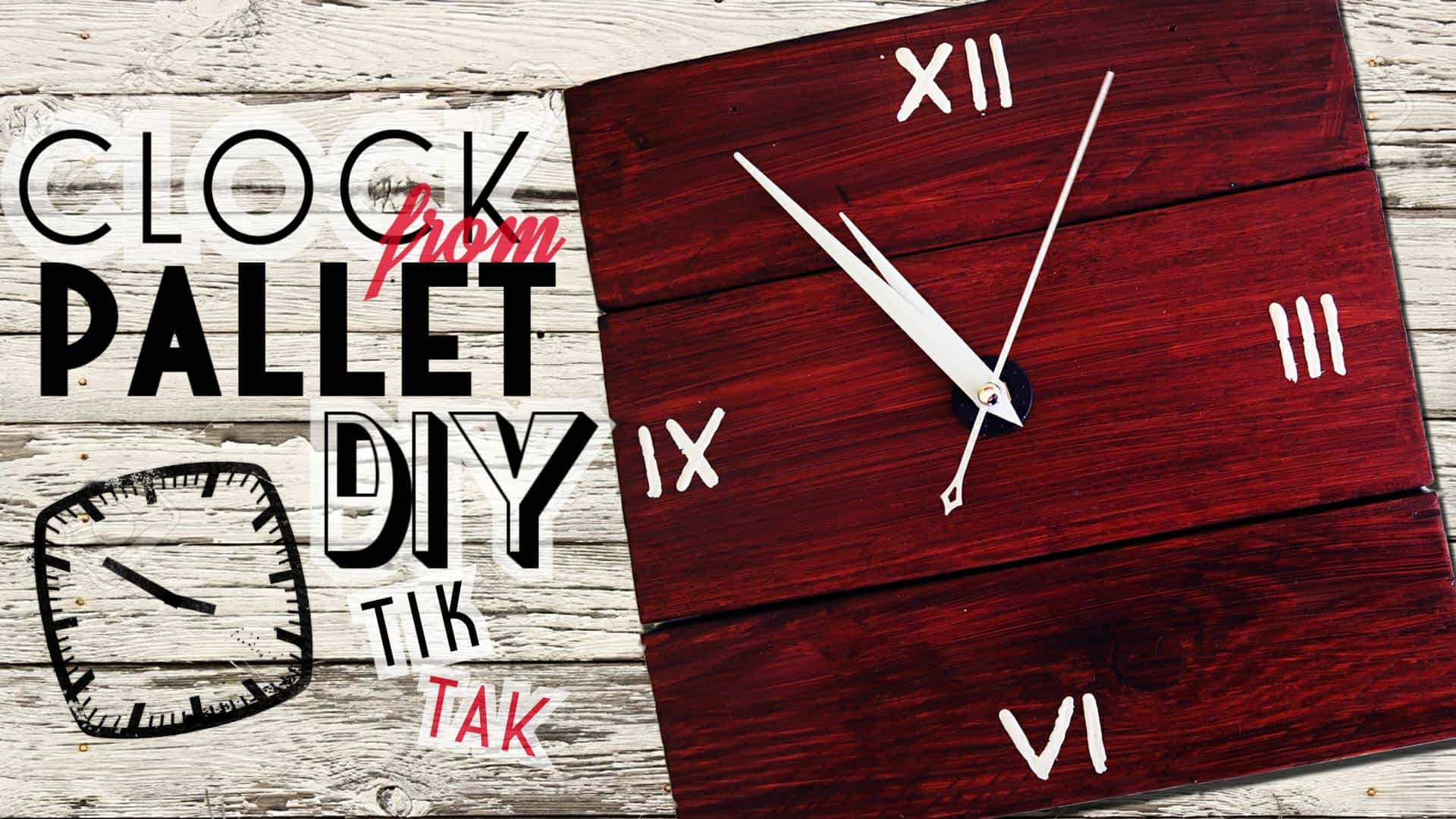 Tutorial build This Gorgeous Pallet Wall Clock Pallet