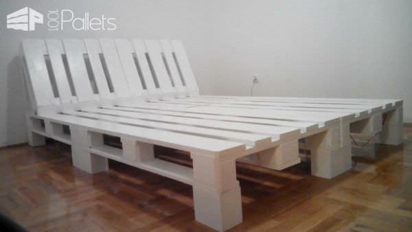 Underlit Pallet Double Bed • 1001 Pallets
