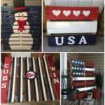 Various Patriotic Painted Pallet Flags