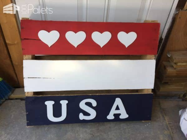 Various Patriotic Painted Pallet Flags Pallet Home Décor Ideas