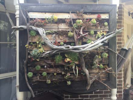 Vertical Pallet Gardens Made Stronger; Lasts Longer!
