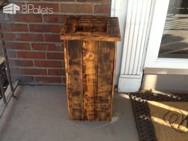 Woodburned Pallet Planter Pair2