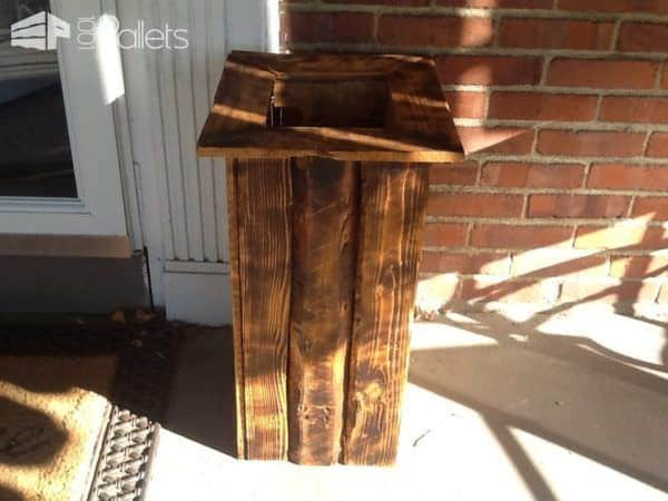 Woodburned Pallet Planter Pair4