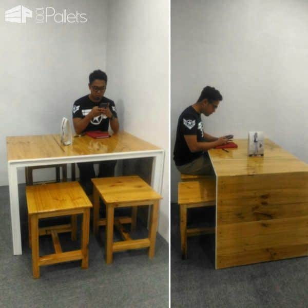 Little Pallet Dining Table Set2
