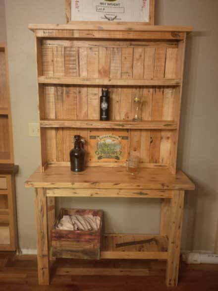 All Pine Two-piece Pallet Beer Hutch