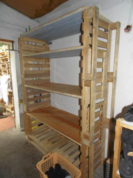 Big Pallet Organization Rack For Scrap Wood