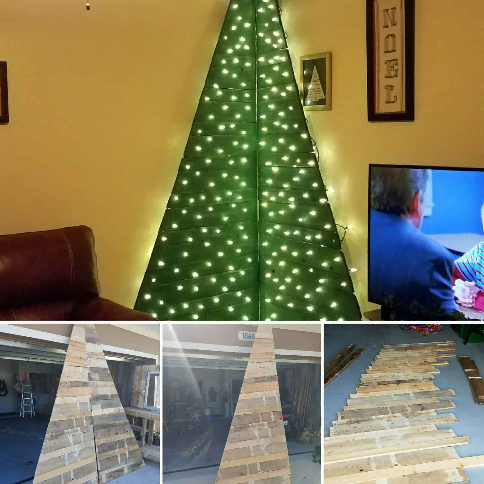 Corner Christmas Tree To Save Space 1001 Pallets