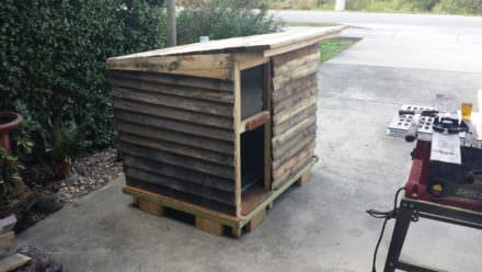Deluxe Pallet Canine Cabin Any Dog Would Love!