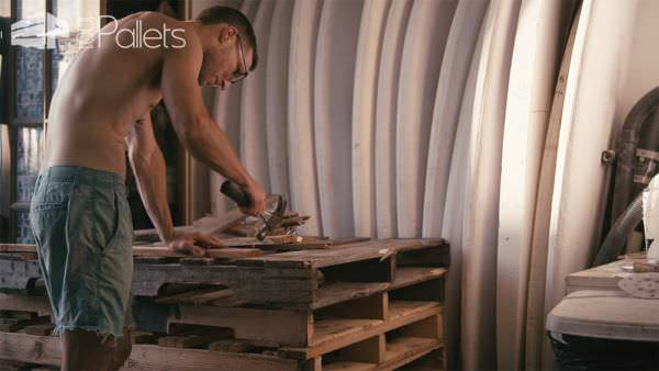 Donald Brink Turns Unused Freight Pallets Into Surfboards Other Pallet Projects