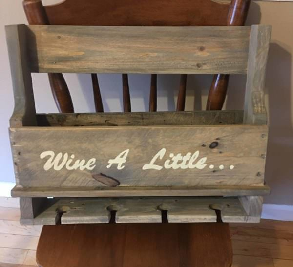 Easy Gift Exchange Pallet Wine Rack Pallet Home Accessories