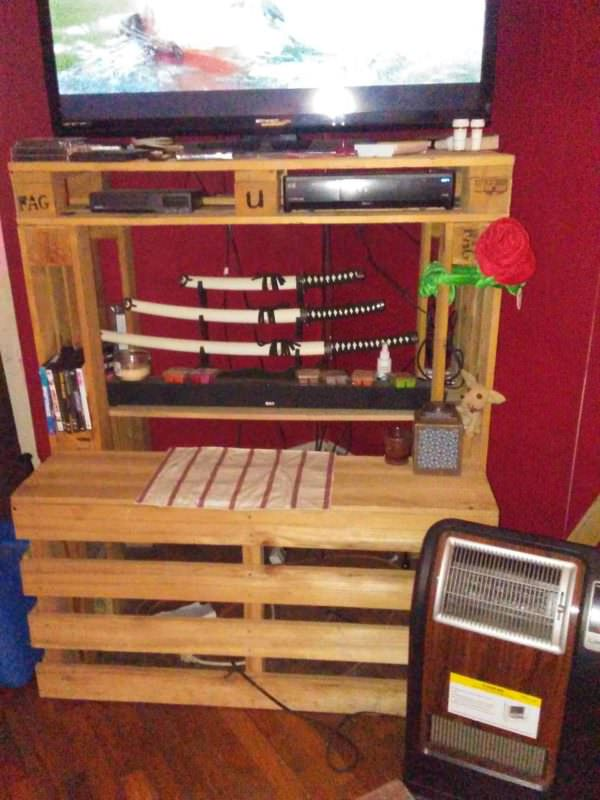 Tallboy Pallet Entertainment Center