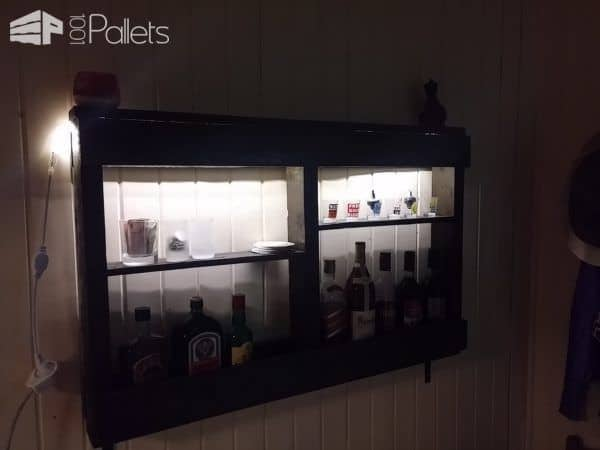 Easy, Underlit Pallet Wine Storage Shelf Pallet Home Accessories