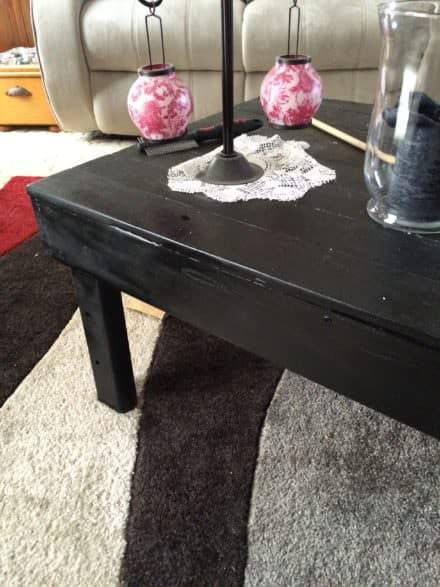 Eight-hour Stealth Pallet Table In Black