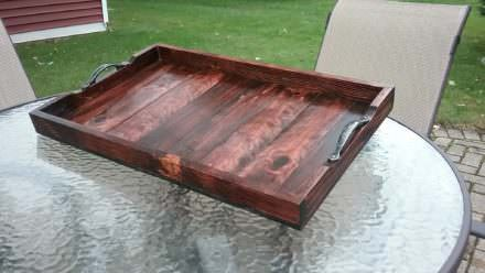 Elegant Pallet Wood Serving Tray That's Almost Too Pretty To Use