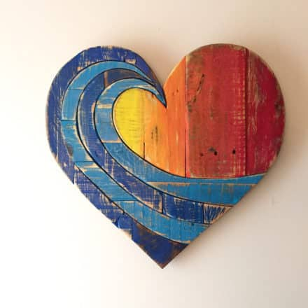 Etsy Product of the Week: Lovely Wave Rainbow Pallet Wood Heart
