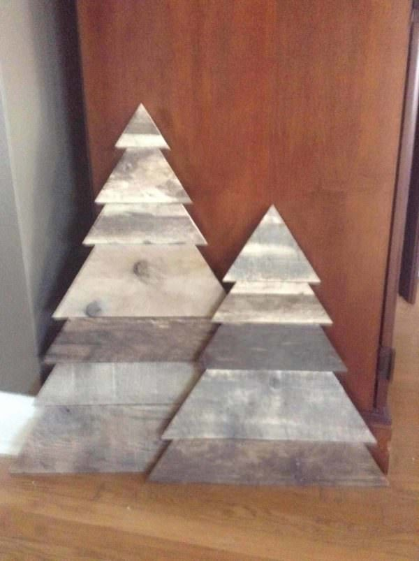Layered Triangle Pallet Christmas Tree Pair 1001 Pallets