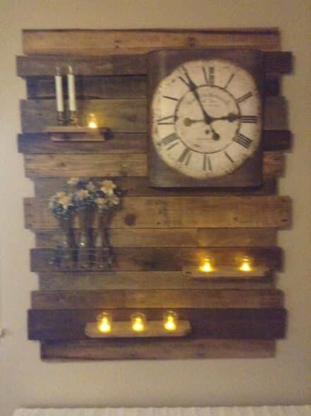 Lovely Pallet Wood Accent Wall Decor Panel