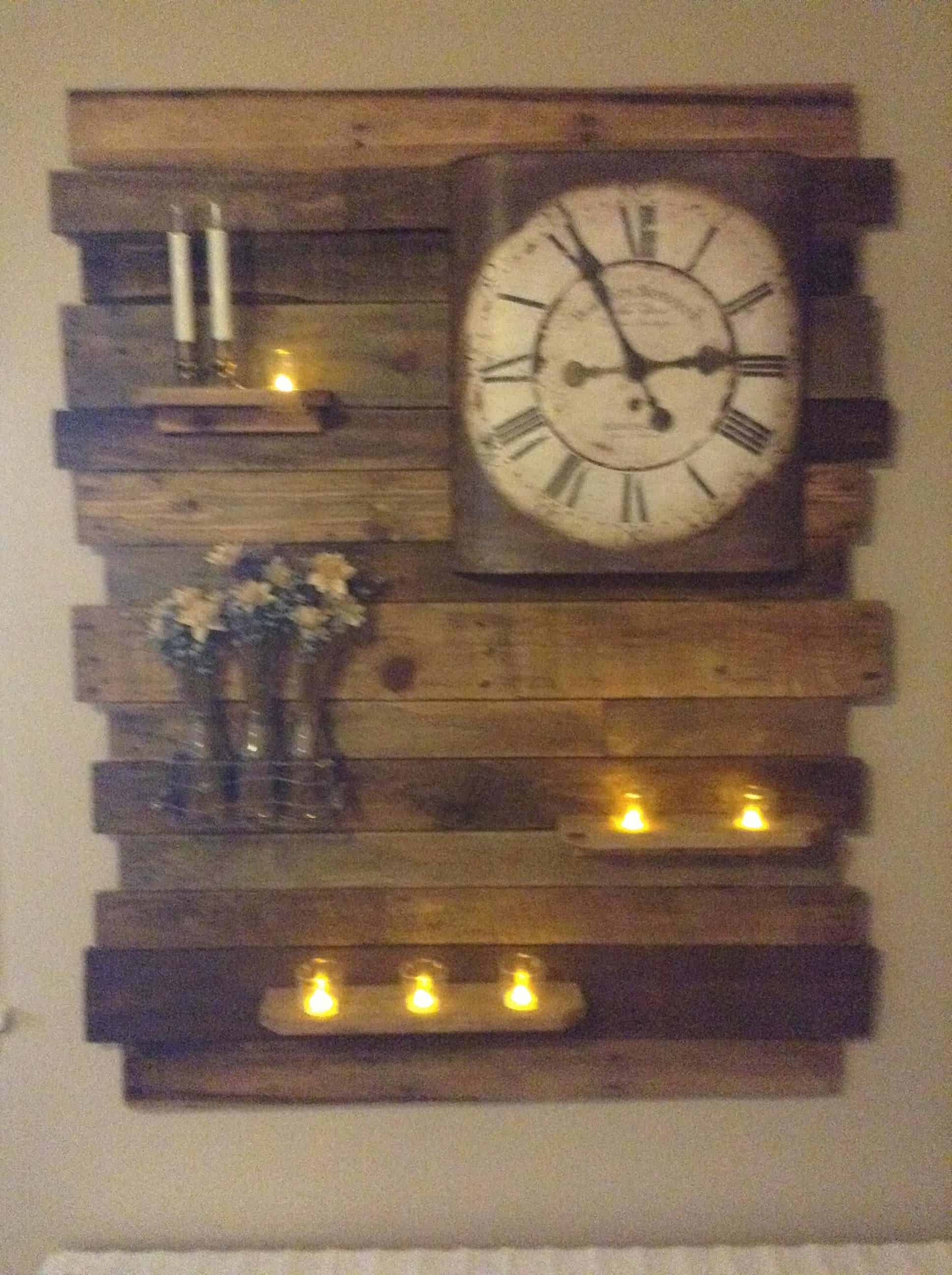 Lovely Pallet Wood Accent Wall Decor Panel 1001 Pallets