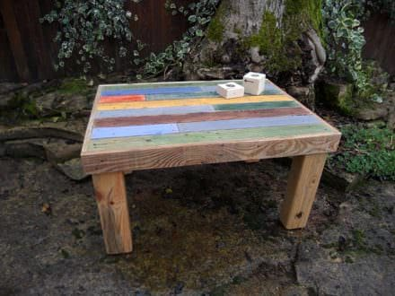 Multi-colored Coffee Table / Table Basse