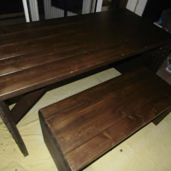 Pallet Desk/Bench Set Featuring Recycled Shed Beams