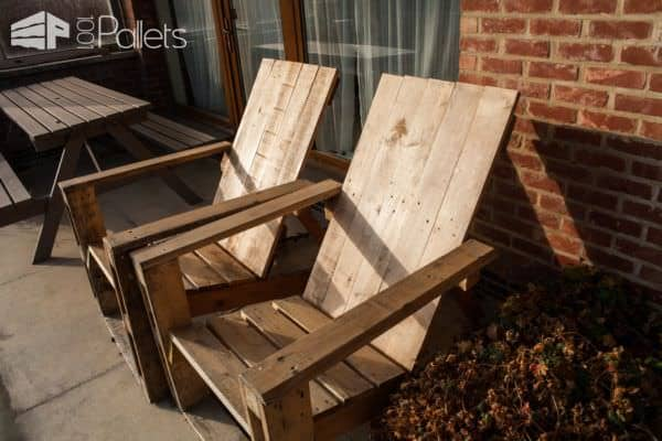 Pallet Garden Chair Pair3