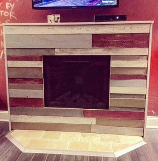 Pallet Living Room Wall/Fireplace Surround3