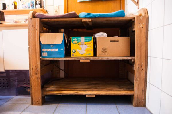 Pallet Wood Double Changing Table4